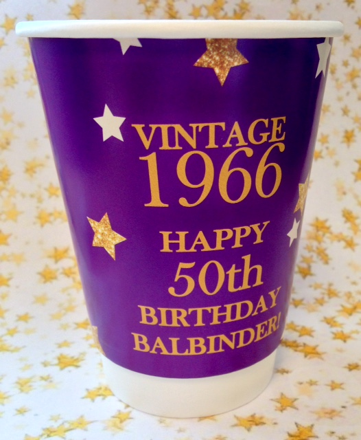 50th Birthday Hot Cups